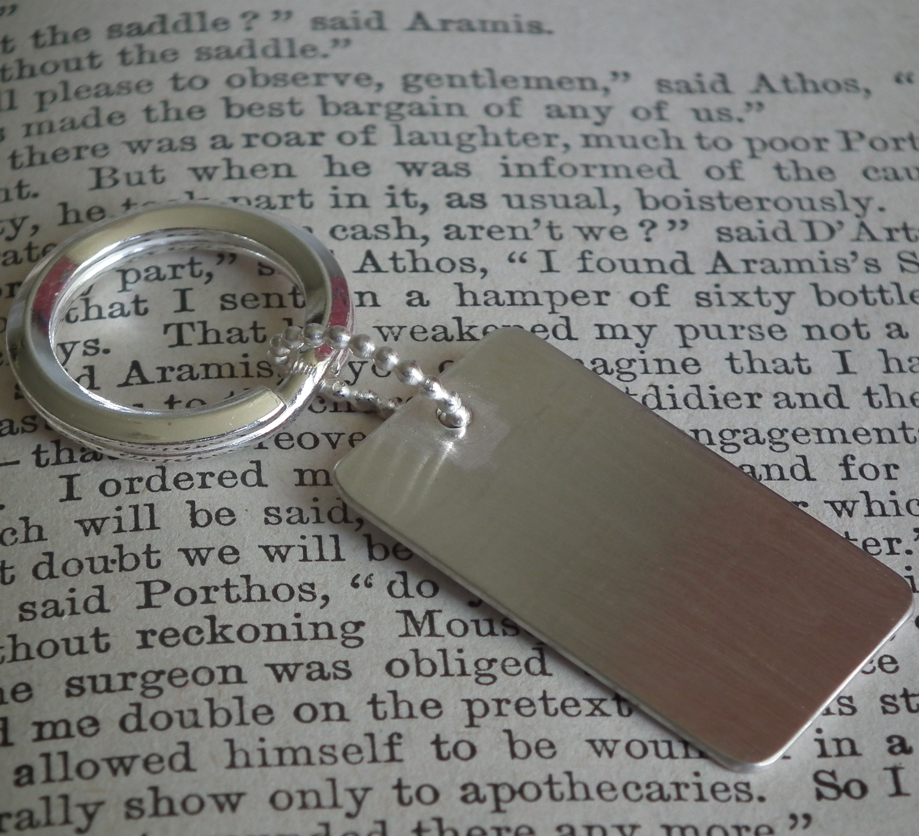 Silver Dog Tag Keyring