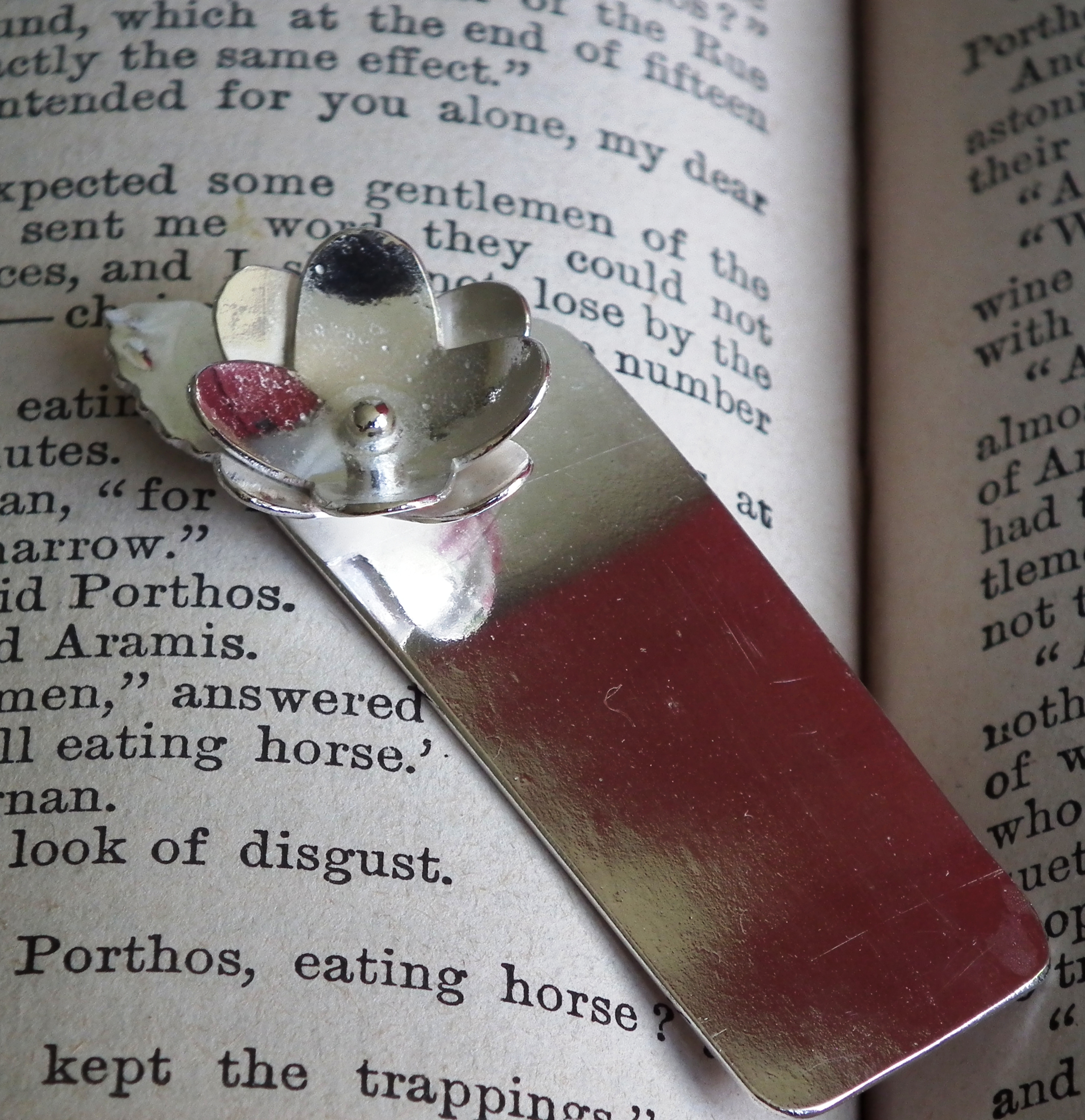 Flower & Leaf Silver Bookmark