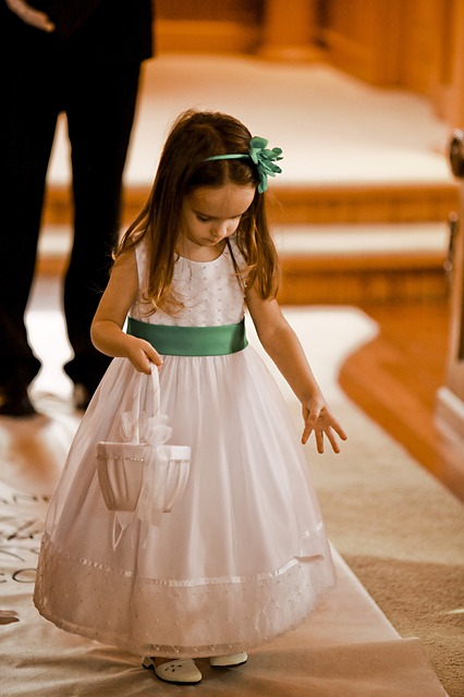 Children at Weddings - flower girl
