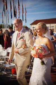 father of the bride duties - giving away the bride
