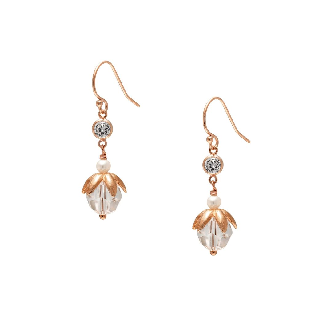 Wedding accessories - Airlie earrings (rose gold) victoria fergusson