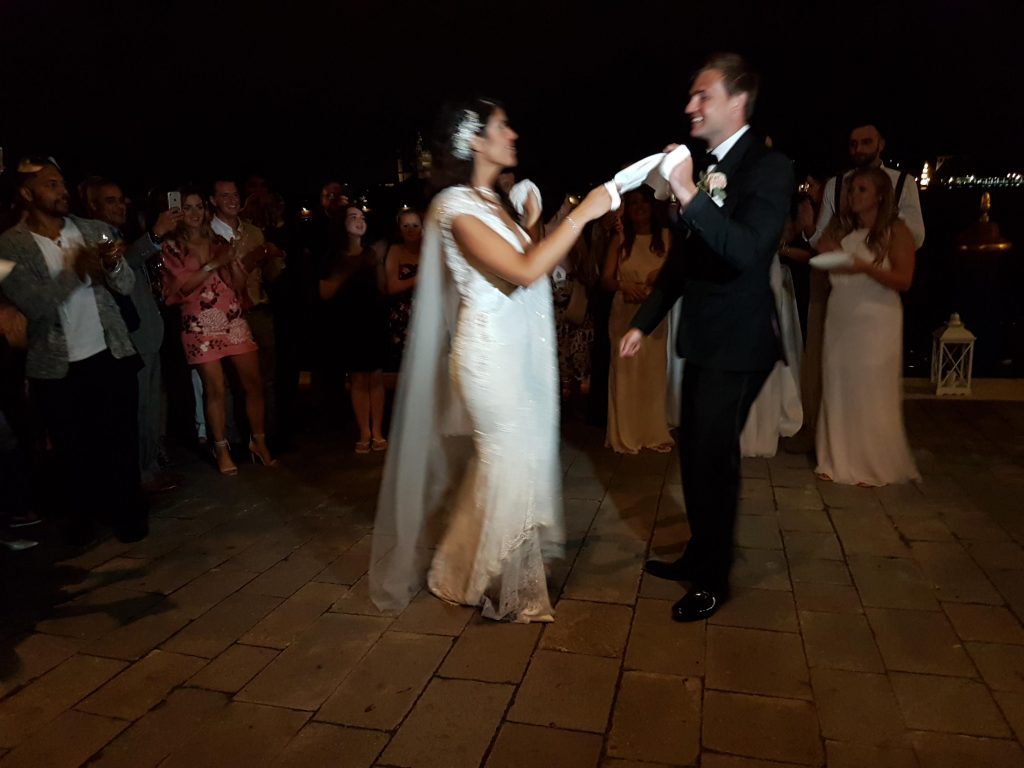 Destination weddings - venice, italy, traditional greek dancing