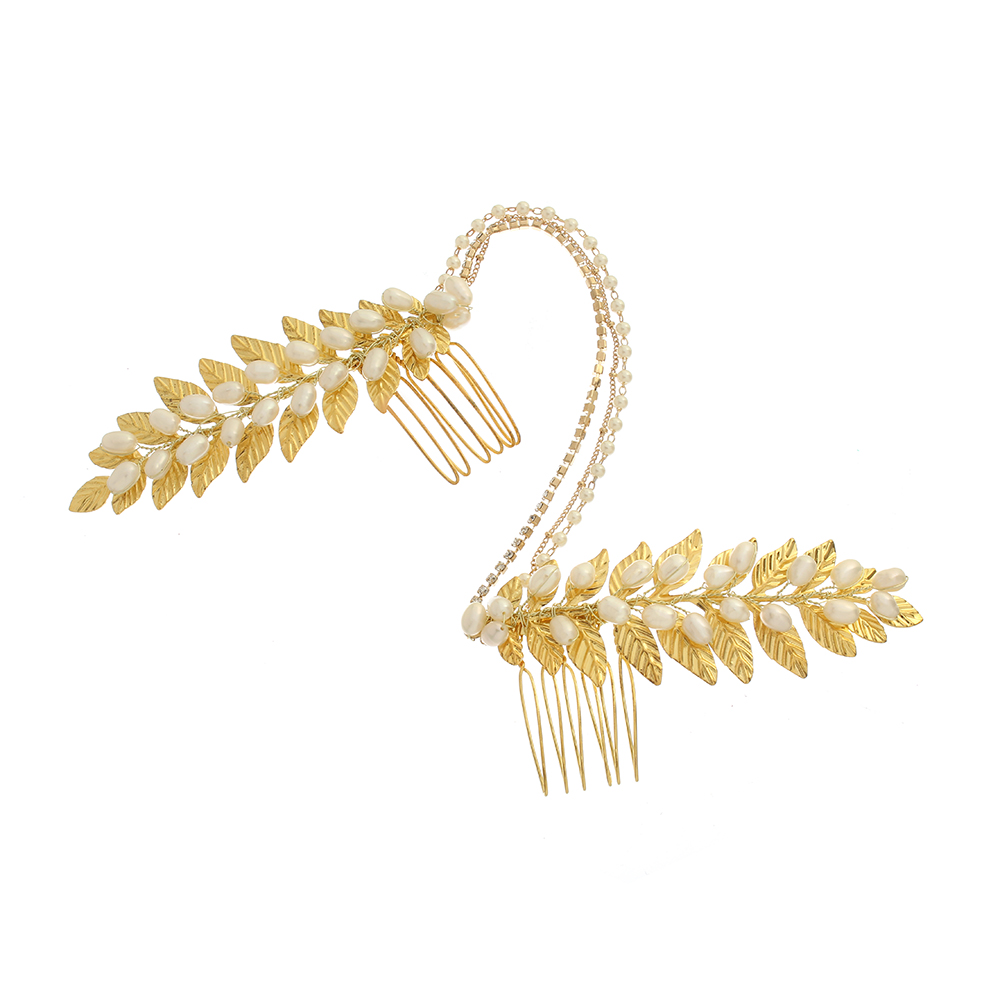 Wedding accessories - gold dust grecian forehead band