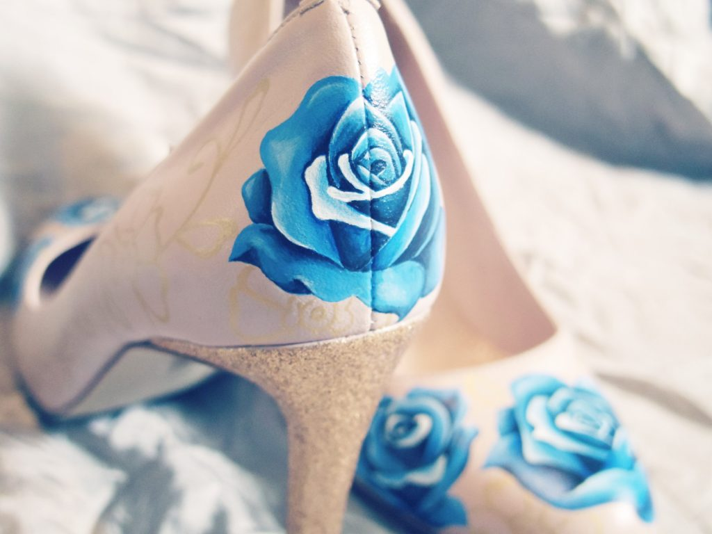 Bespoke wedding shoes - roses