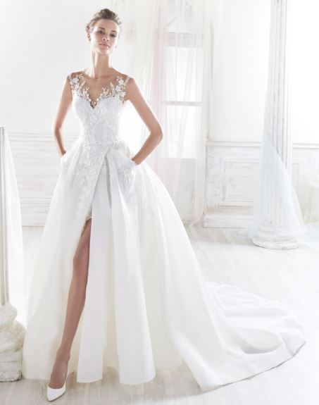 Choosing a wedding dress - shift attention away from shoulders