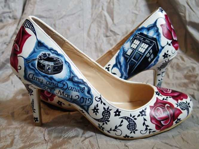 Bespoke wedding shoes - Dr Who