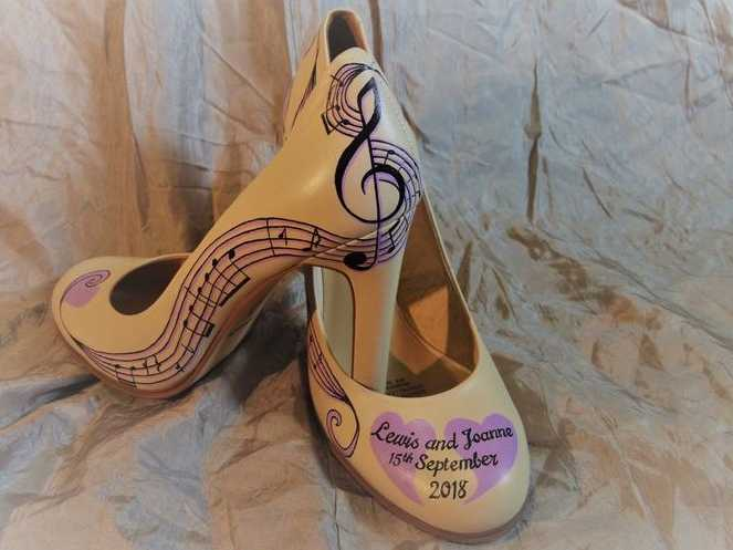 Bespoke Wedding Shoes - Musical
